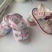 босоножки на лето с супинатором для девочки сандали летняя обувь  кожаная стелька ортопеды