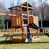 Самая Популярная. Игровая детская площадка, уличный комплекс, домик, песочница, качели.