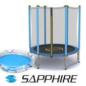 Батут c сеткой Sapphire, диаметр 140 см.