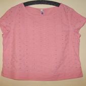 Котоновая блуза Вebenhams из прошвы. Бантик на спине ( L )
