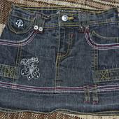 юбка джинсовая (с шортами) 4-5 лет