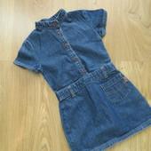 Джинсовое платье-сарафан на 2 года
