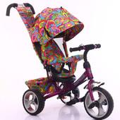 Велосипед трехколесный Tilly Trike T-344 пенорезина.