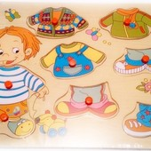 Рамка-вкладыш «Одень Мишку», мир деревянных игрушек Р111
