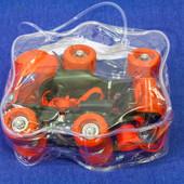 Детские раздвижные 4-колесные ролики квады Mini Roller: 16-21 см