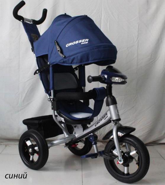 Кросер ван надувные колеса детский трехколесный велосипед crosser one фото №1