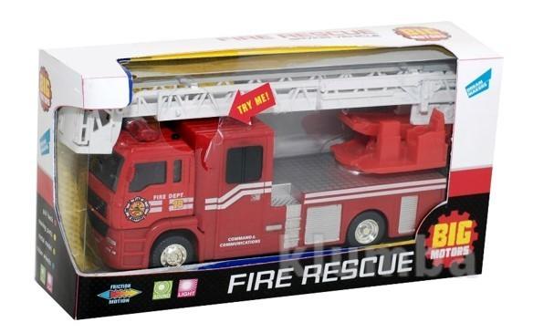 Пожарная машинка, инерционная фото №1