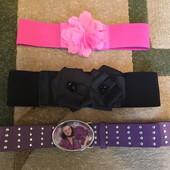 Фиолетовый ремень для девочки