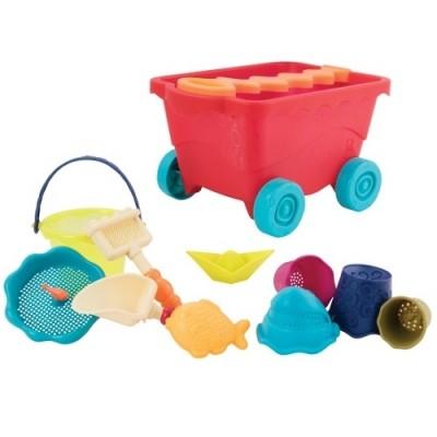 Набор для игры с песком и водой - тележка манго (11 предметов) фото №1