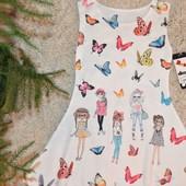 """Платье """"Подружки"""" для девочек 4-14 лет, Италия"""