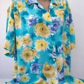 Блуза лето, голубая