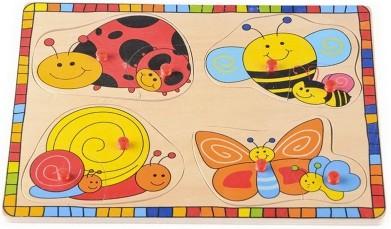 Вкладыши «насекомые с малышами», lelin артикул: 22-029 фото №1