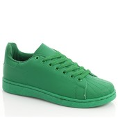 Женские кроссовки зеленого цвета