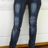 Молодёжные джинсы скинни с молниями внизу штанин. Woman Borsache Jeans. размер 40 / 12/ L