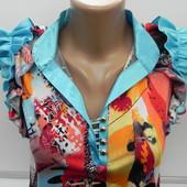Новая шикарная блузка-туника L.(Турция)
