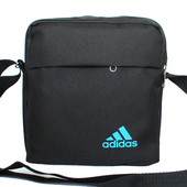 Спортивная черная мужская сумка в стиле Adidas А01