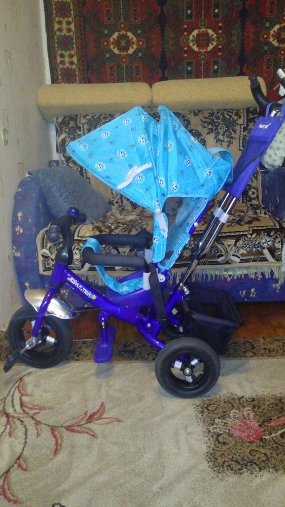 Трехколесный велосипед азимут трайк на надувных колесах. фото №1