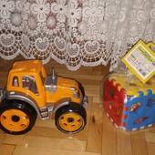 Набір Машинка Трактор+ Розвиваючий Кубик-сортер