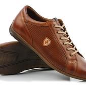 Кожание туфли с перфорацией мужские