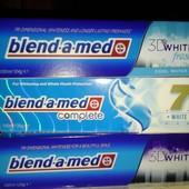Предлагаю зубные пасты blend a med 3d white и complete 7
