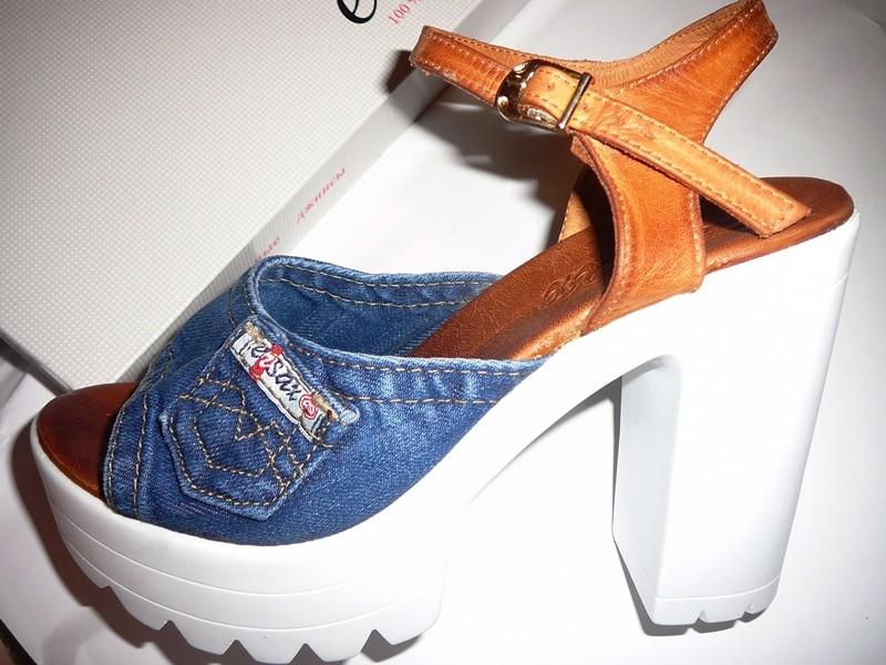 996e2c51f Хит сезона! обувь на тракторной подошве!ersax джинсовые босоножки 11 см  фото №1