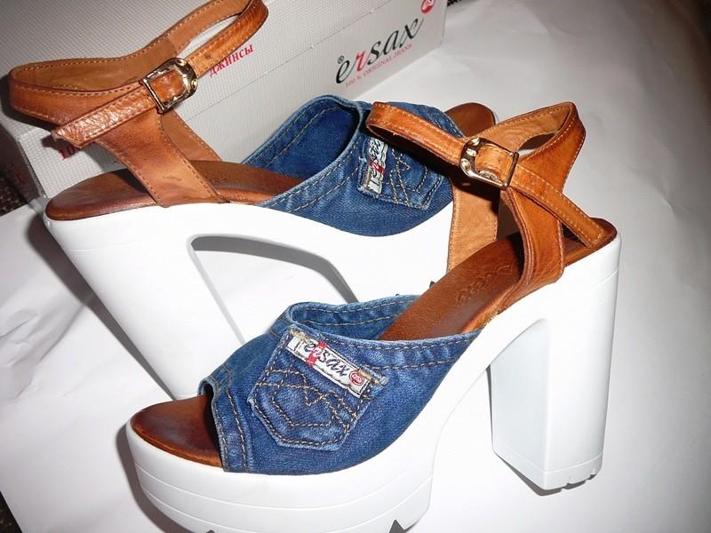 5e6dca940 Хит сезона! обувь на тракторной подошве!ersax джинсовые босоножки 11 см  фото №2