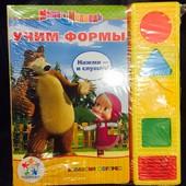Книга Маша и медведь учим формы
