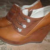 Туфли на платформе 39р -25см ст.