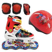 Роликовые коньки Explore Rooney Combo (Amigo Sport), шлем и защита в комплекте