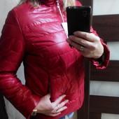 Классная яркая бордовая   куртка. XXL.   50-52 р. Распродажа