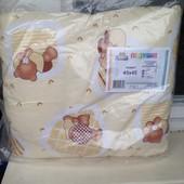 Подушка силиконовая детская новая, 45/45 см, фабрика Ярослав