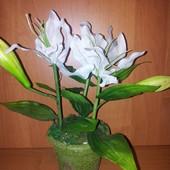 декоративные исскуственные орхидеи всего по 55гр