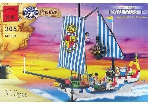Конструктор brick 305 пиратский корабль фото №1