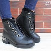 Акция!Последний размер!Женские утепленные ботинки
