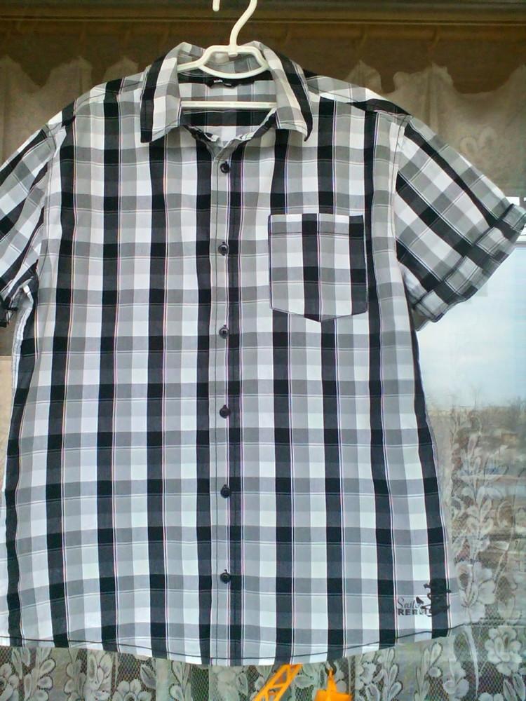 Стильная летняя рубашка  Rebel для парня на рост 170 ( наш р. 42) фото №1