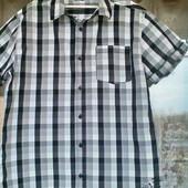 Стильная летняя рубашка  Rebel для парня на рост 170 ( наш р. 42)