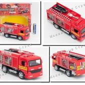 Инерционная металлическая пожарная машинка Fire truck