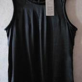 Новая летняя блузка-топ черная Tatuum натуральный шелк р.42 евро черный топ шелковый