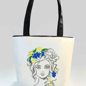 Оригинальная женская сумка Квіти у волоссі