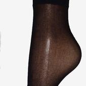 Носки 20dеn, без лайкры, черные.