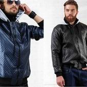"""Куртка """"Плейн""""синяя и чёрная.Размеры: 46-48, 48-50, 50-52 (2с"""