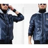 """Куртка """"Плейн""""синяя и чёрная.Размеры: 46-48, 48-50 и 50-52.(2с"""