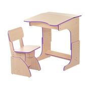 Детская парта F105 столик стульчик растишка для школьника дома