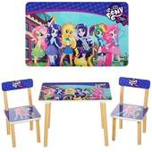 Детский столик со стульчиками 501-9-2 Little Pony