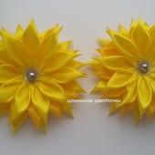 Солнечные цветочки на заколках,резинках