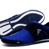 Кроссовки Adidas лето, р. 39-45, черный и синий, код kv-2985