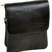 Мужская кожаная сумка планшет барсетка Dr.Bond маленькая