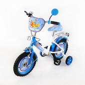 Велосипед Tilly Авиатор колёса 12 дюймов T-21222 white + blue