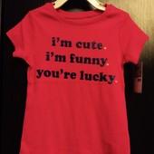 Новая футболка фирмы Carters размер 4т
