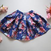 Детская юбка со складками, 100% хлопок.